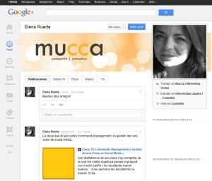 Perfil Google+ Elena Rueda