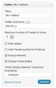 Añade Twitter en tu blog2